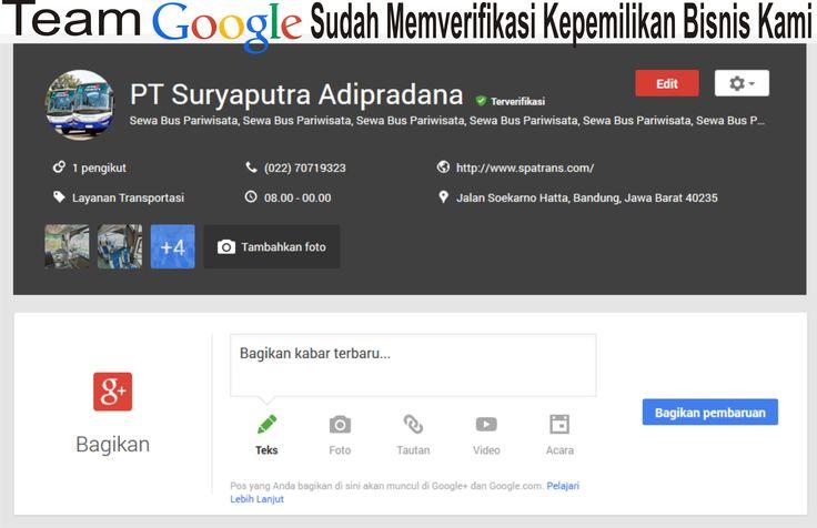 google pun verifikasi kami.. #bus suryaputra
