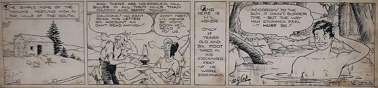 The First Li'l Abner Daily Strip Original,  13 Aug 1934