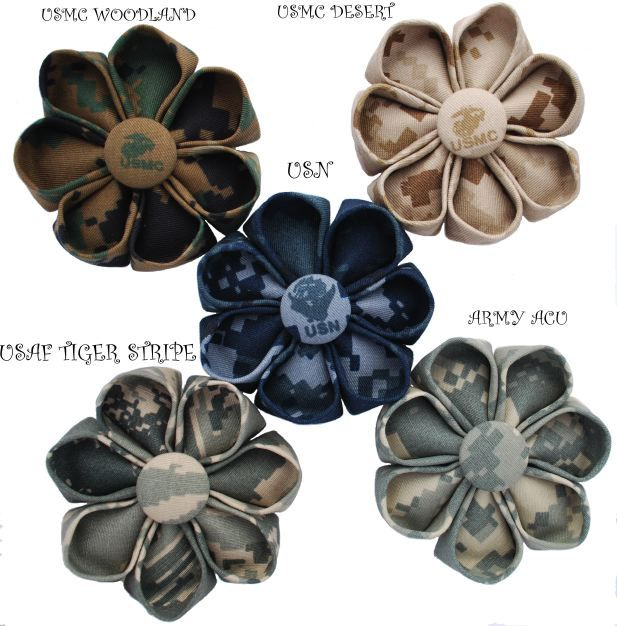 flower pins from uniforms