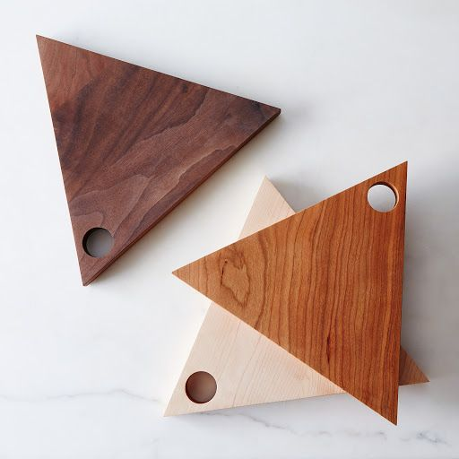 Triangular Wooden Serving Boards on Food52 - hearts & stars instead