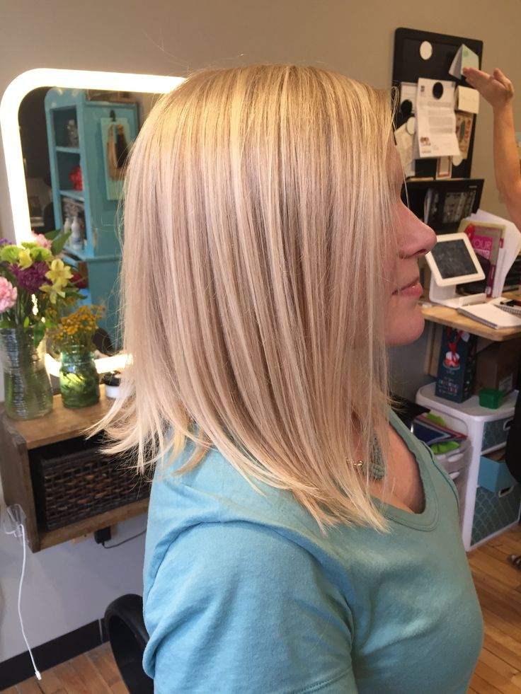 Razor Side By Side >> Medium length hair cut - angled bob - texture - platinum blonde - balayage - icy blonde - hair ...