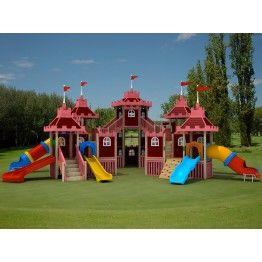 Anaokulu Saraycık Ahşap Çocuk Oyun Parkı