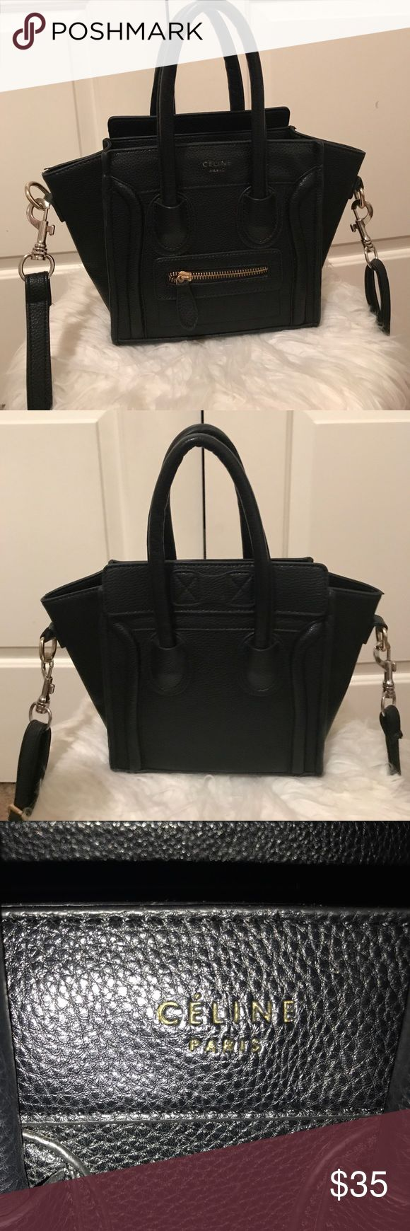 Replica Celine Nano Purse This is not authentic but looks very real & very durable. holds a lot of things & is super cute. this is Celine's Speckled print Nano Bag i can make reasonable offers :) Celine Bags Crossbody Bags