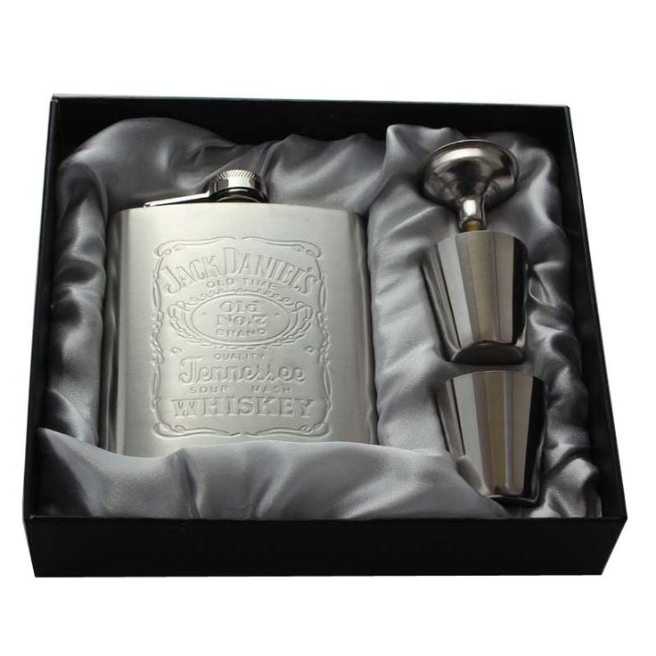 Whisky Hip Flask 7oz set Portable Stainless Steel Flagon Wine Bottle Gift Box Pocket Flask With 1 Funnel 2 Cups #Affiliate