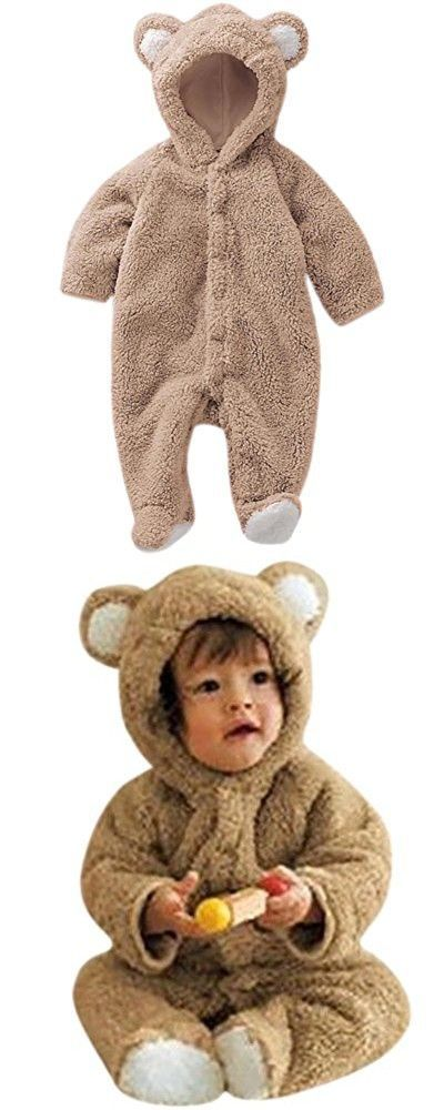 17f68eee6478 DAIMIDY BABY Infant Baby Boys Girls Cute Bear Style Ears Hooded ...