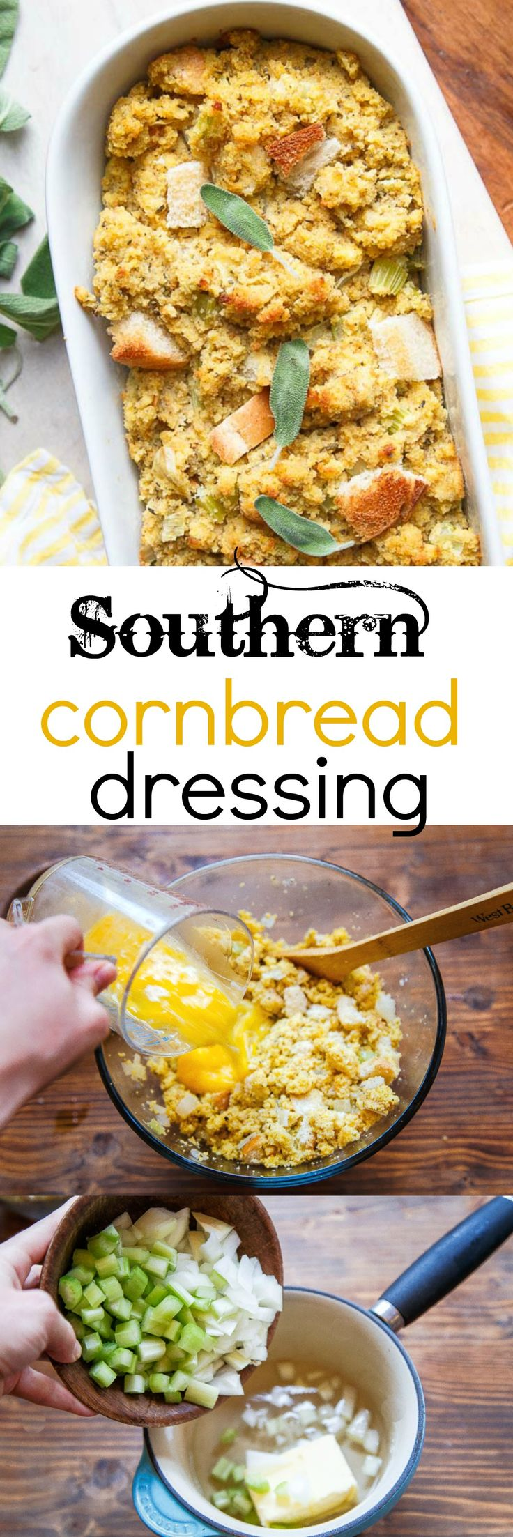 The best recipe for stuffing ever. My Mama's recipe for Southern cornbread dressing. With step-by-step photos!