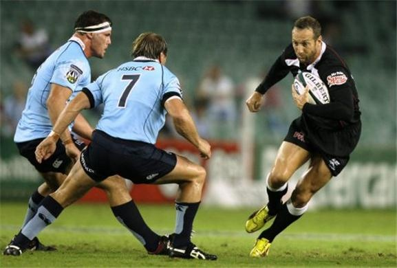 Durban, KwaZulu-Natal - The Natal Sharks (black/white). I want to see another live game someday.