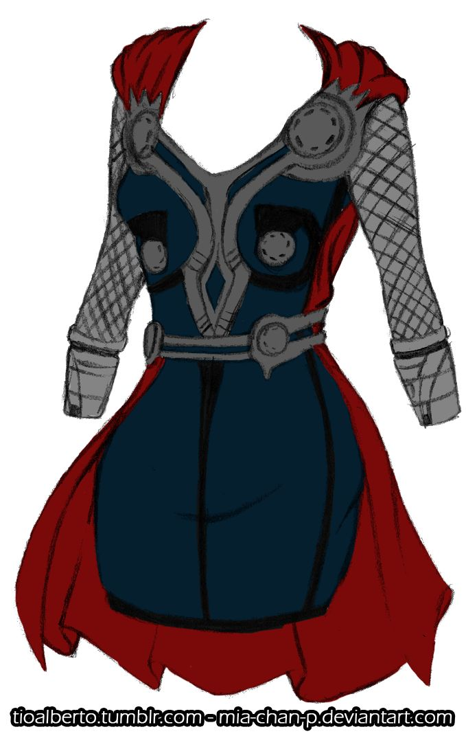 Thor's outfit redesigned for a girl, someone make this for me and a Loki version...