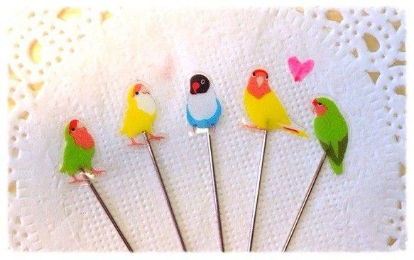 お裁縫が楽しくなる!Lovery小鳥の まち針♪(3)