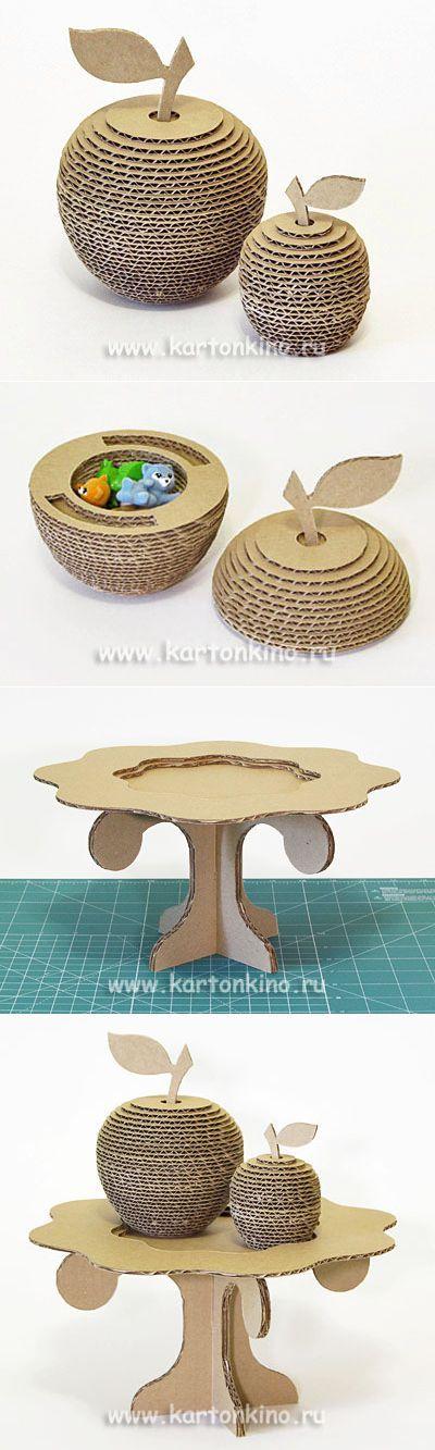Интересные поделки из картона: 3D яблоки с сюрпризом | КАРТОНКИНО.ru | своими руками | Постила