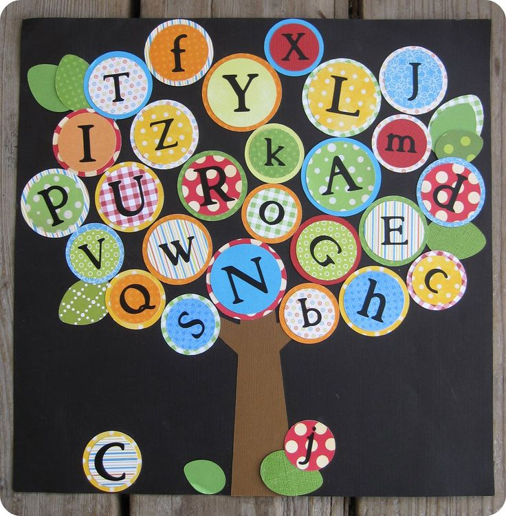 Make your own Alphabet tree using scrapbook paper. Bulletin board idea for  August! Diy AbcBlissful RootsDecorating IdeasClassroom