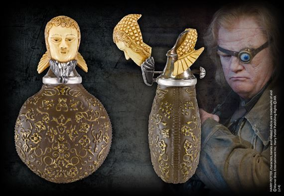 Mad-Eye Moody Flask  Measures approximately 6 1/4 inches in height.