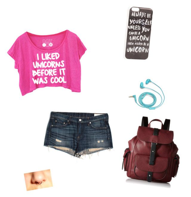 """""""my unicorn phase"""" by fabulouschloe on Polyvore featuring JFR, rag & bone/JEAN, FOSSIL and Kenneth Cole Reaction"""