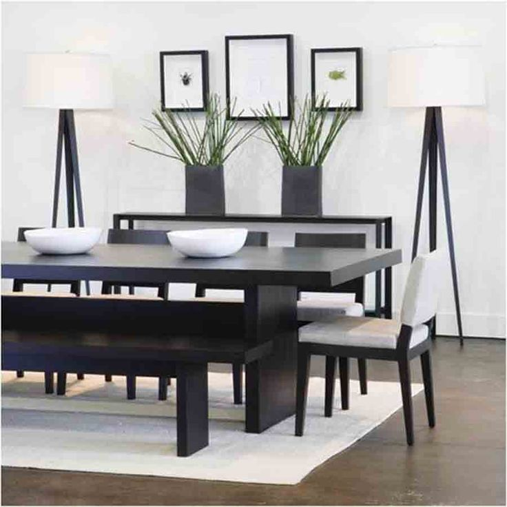 wonderful modern dining room decorating ideas for small space minimalist black and white small dining - Modern Dining Room Decor Ideas