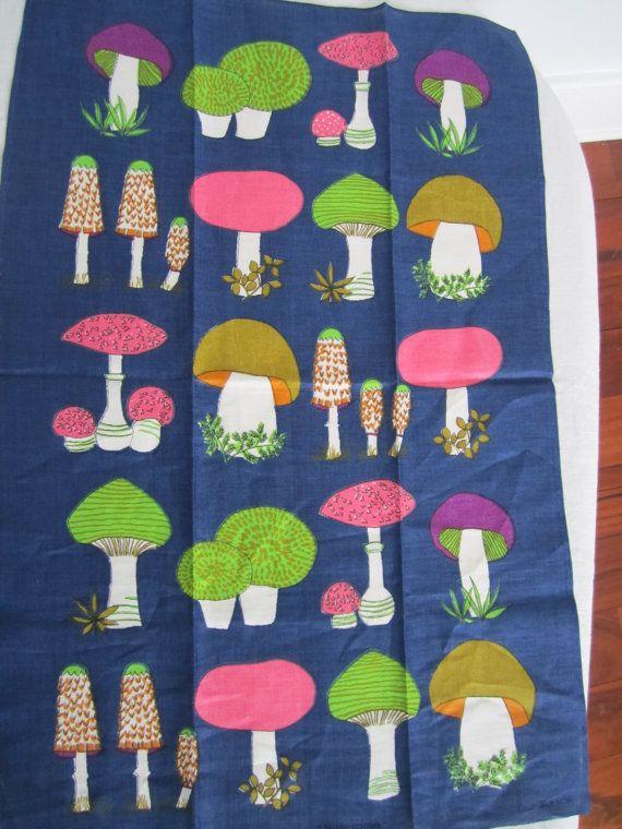 Old Bleach Mushroom Vintage Kitchen Towel. By TheCuriousMoose, $25.00
