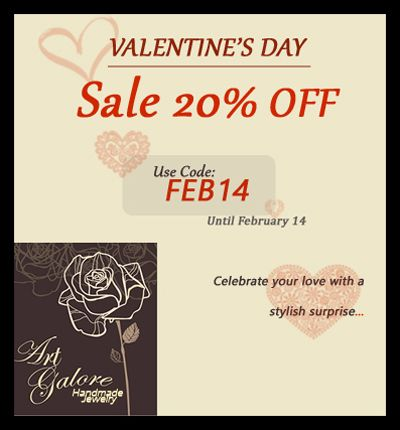 "❤Celebrate your love with a stylish surprise..❤Sale 20% OFF.. Use Code: ""FEB14"" Until February 14 , ArtGaloreShop.etsy.com"