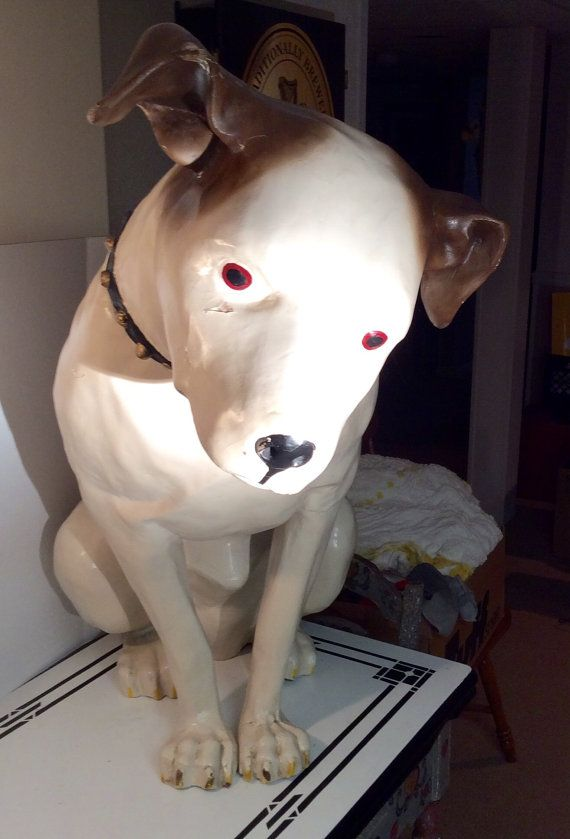 Rare Paper Mache 3 ft. RCA Victor Nipper Dog Antique Store Display - Reduced