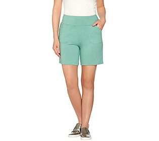 LOGO Lounge by Lori Goldstein French Terry Pull-On Shorts with Pockets