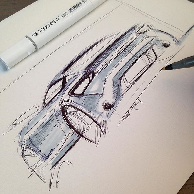 Car sketch #sketchbook #markersketch #cardesign
