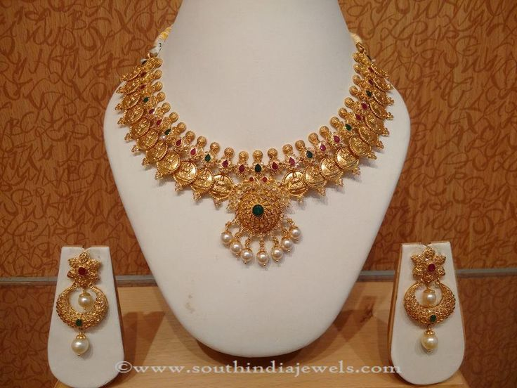 Gold Light Weight Coin Necklace From Naj Necklace