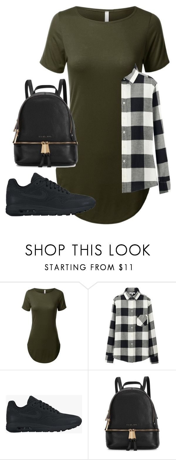 """""""Untitled #46"""" by toniannfratianni on Polyvore featuring Uniqlo, NIKE, Michael Kors, women's clothing, women's fashion, women, female, woman, misses and juniors"""