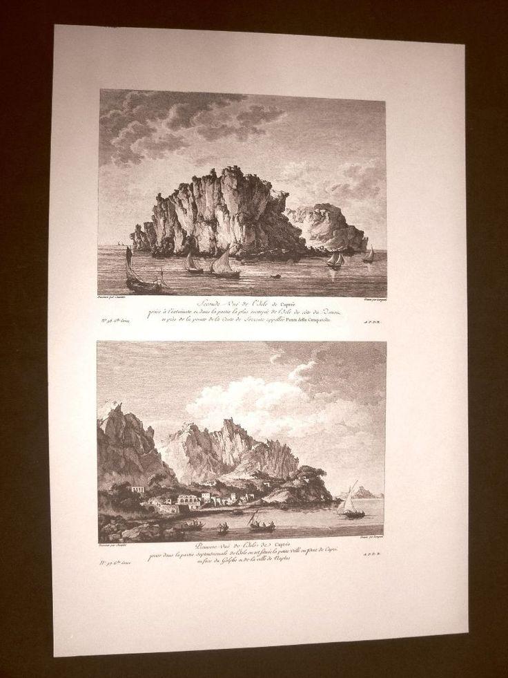 Vedute Isola di Capri nel Golfo di Napoli Campania Voyage Pittoresque Saint Non | Voyage Pittoresque ou description des Royaumes de Naples et de Sicile