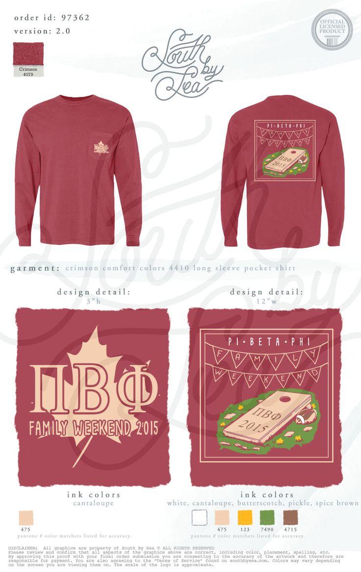 Pi Beta Phi | Pi Pi | Parents Weekend | Fall Shirt Inspiration | Cornhole Shirt Design | South by Sea | Sorority Shirts | Sorority Tanks | Greek Shirts | TShirt Ideas | Tee Shirt Ideas