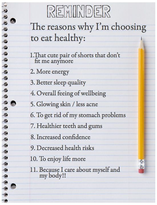 11 Reasons to Eat Healthy
