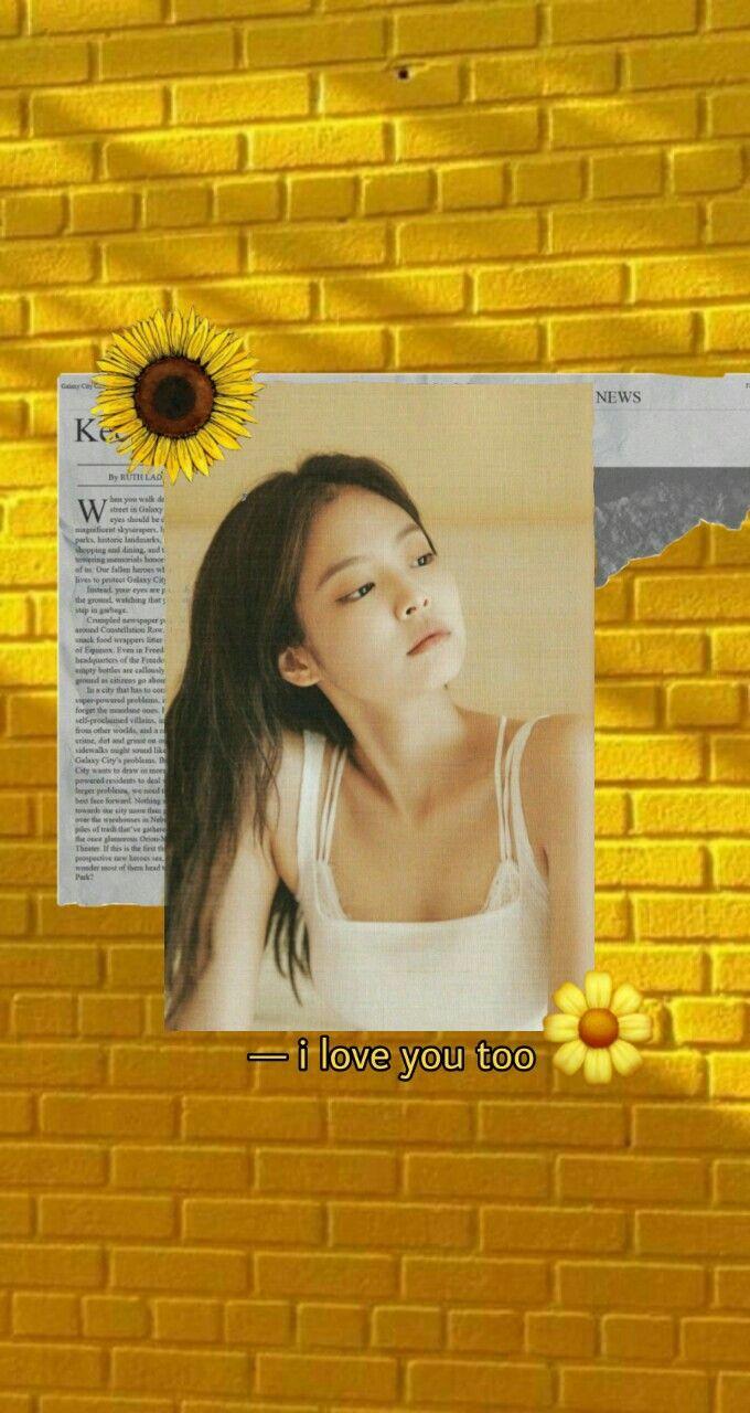 jennie yellow aesthetic in 2020 yellow aesthetic my