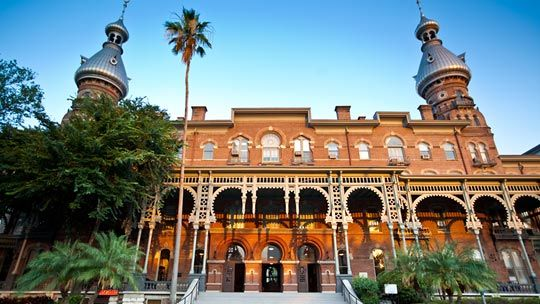 The Henry B. Plant Museum, formally known as Tampa Bay's Hotel, on University of Tampa's campus in Florida