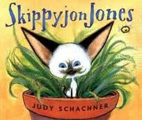 I used to love this book because when I was in 1st grade I always had to read at night for the reading goal. So for the reading I always used to read the books of SkippyjonJones. And I once asked my mom can we have a cat like SkippyjonJones and she would smile.