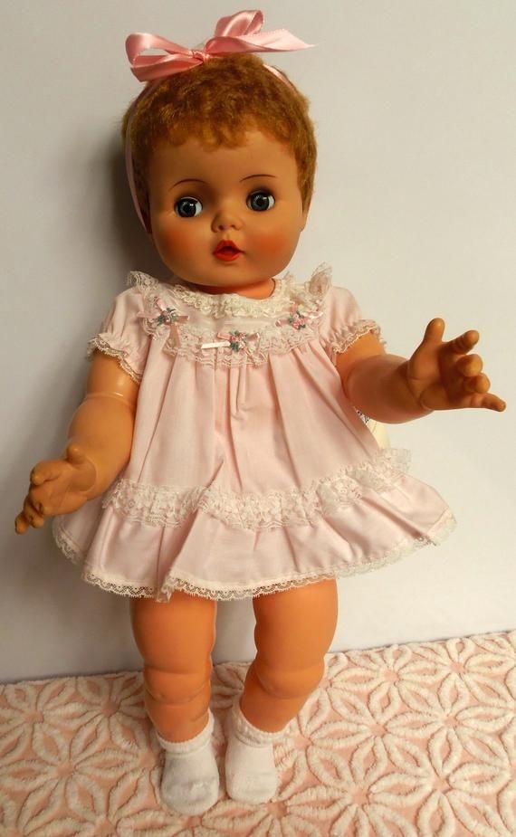 """Patsy Joan Vtg 60s Toddler Little Girl Doll Clothing Pattern ~ 16/"""" 17/"""" Ruthie"""