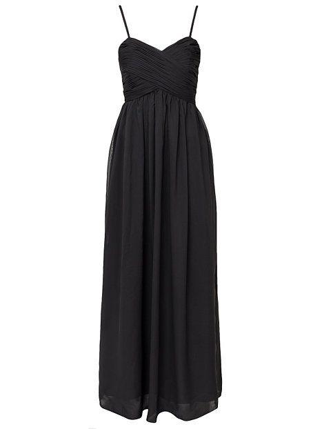 Wrap Bust Long Dress - Nly Eve - Czarny - Sukienki Wieczorowe - Odziez - Kobieta - Nelly.com
