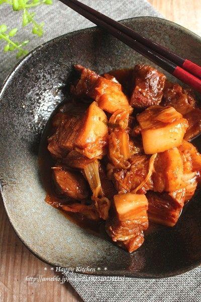 ご飯に合う*トロトロ豚バラブロックのキムチ煮 たっきーママ オフィシャルブログ「たっきーママ@happy kitchen」Powered by Ameba