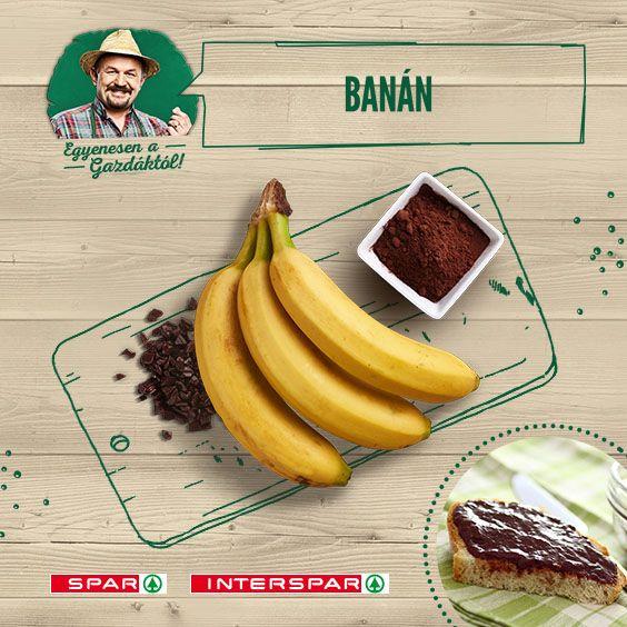 Én soha nem unom a banánt :) De néha kell egy kis csavar: http://www.spar.hu/hu_HU/spar_chef/receptek/desszert/csokis_banandzsem.html