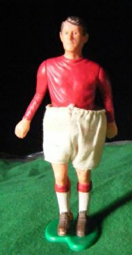 Ah, the rise of digital soccer games means an end to the quality products of yesteryear.  This player came with his own sack of potatoes.