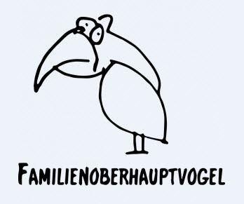 Familienoberhauptvogel