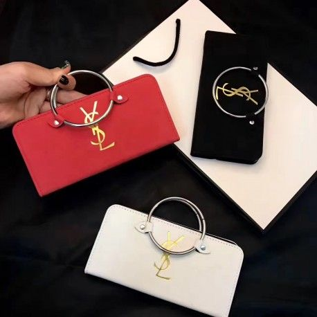 イブサンローランYSL iPhoneX/8ケース新品。おしゃれな手帳型で、カード入れ付、バンカーリング付、おしゃれで、20代、30代、40代の女性におすすめします。