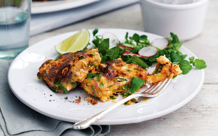A readymade paste gives these fishcakes their authentic flavour. This recipe gives you 3 of your 5 a day.