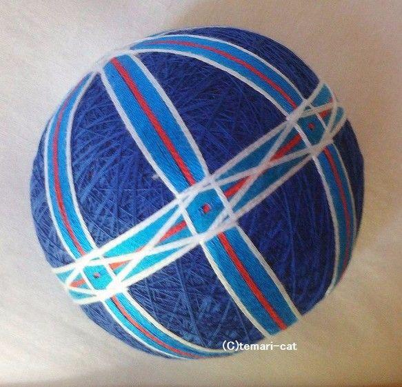 てまり「ブルーハワイ」青の土台 手まり 手毬 手鞠|その他インテリア雑貨|てまり - ねこ|ハンドメイド通販・販売のCreema