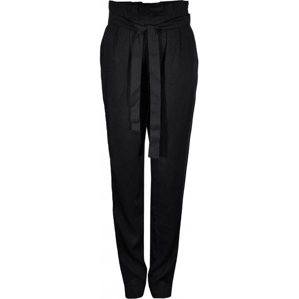 Numph | High Waisted Tapered Elly Trousers ❤ liked on Polyvore featuring pants, pantalones, trousers, high-waisted trousers, high-waisted pants, relaxed pants, tapered fit pants and tapered trousers