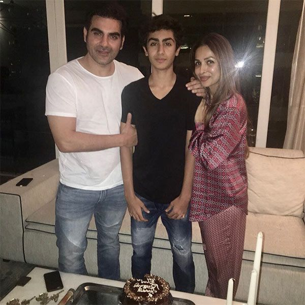Malaika Arora Khan and Arbaaz Khan get back together but only for their son Arhaan's birthday – view pics #FansnStars