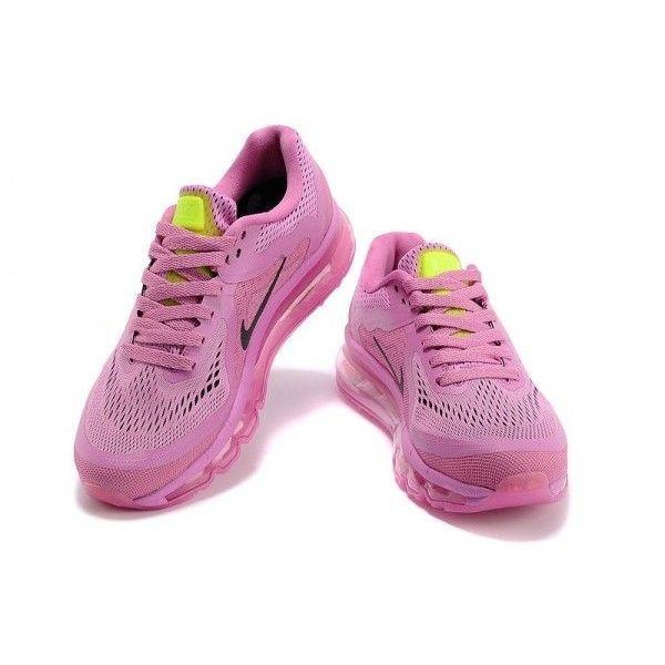 Nike Air Max 2014 Women Pink Shoes Black Nike Logo