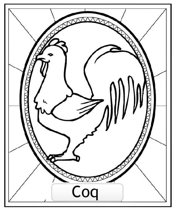 Coloriage Signe astrologie Chinois du COQ, A partir de la galerie : Signesastrochinois