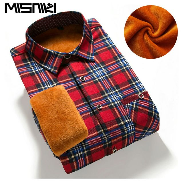 Fair price MISNIKI 2017 Slim Fit Men Winter Long Sleeve Dress Shirt Warm Casual Vintage Corduroy Mens Formal Shirt Camisa Masculina just only $12.95 - 14.76 with free shipping worldwide  #shirtsformen Plese click on picture to see our special price for you