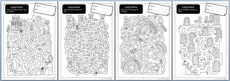 labyrinthe, motricité fine, cycle 2, CP, Ce1, graphisme