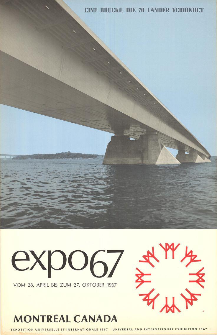 Expo 67 Montréal Canada - Affiches Marci