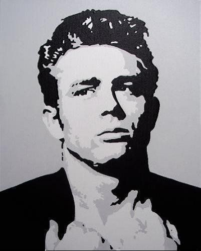 james dean black and white painting - photo #3