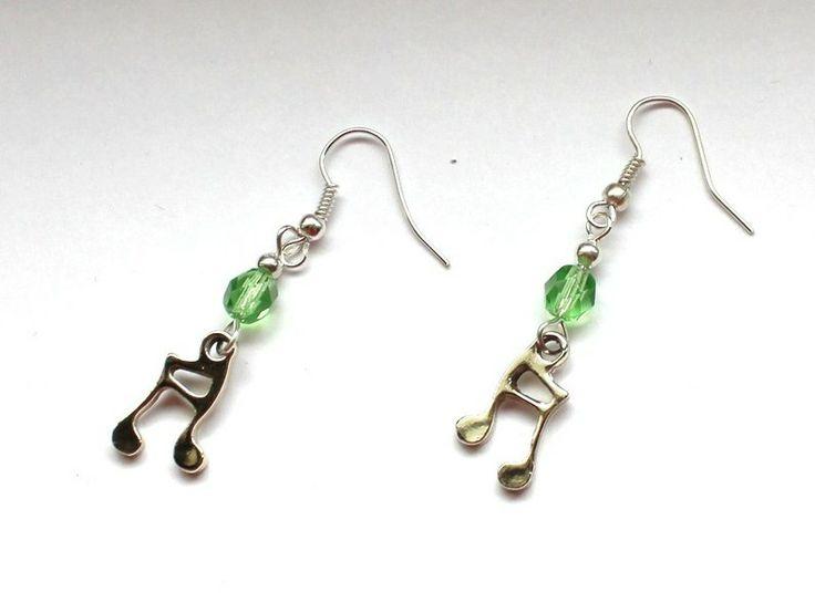 Kolczyki z nutami w Especially for You! http://pl.dawanda.com/shop/slicznieilirycznie  #kolczyki #earrings #crystals #kryształki #handmade #DaWanda