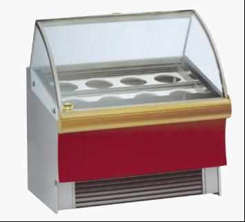 Ice Cream Display Cabinet - there is a thought to have an ice cream scoop cabinet and have the only puddings be ice cream cones/cups that the waiters will serve so it would be on display on the floor.